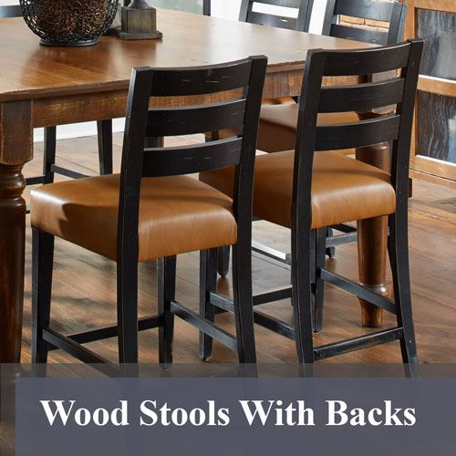 Solid Wood Bar Stools King DInettes : Wood Stools With Backs from kingdinettes.com size 500 x 500 jpeg 45kB