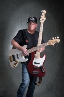 Jeff Nystrom with Bassmods bass guitars