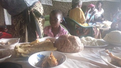Good food for Christmas for orphans and widows