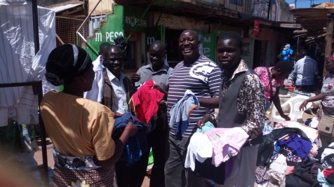 Pastor Moses and the team buying used clothes for orphans and widows