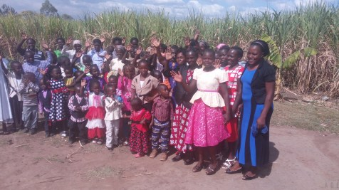orphans and widows more than happy for new clothes and shoes