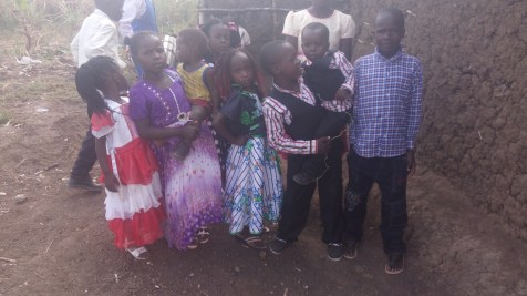 orphans grateful for new clothes and shoes