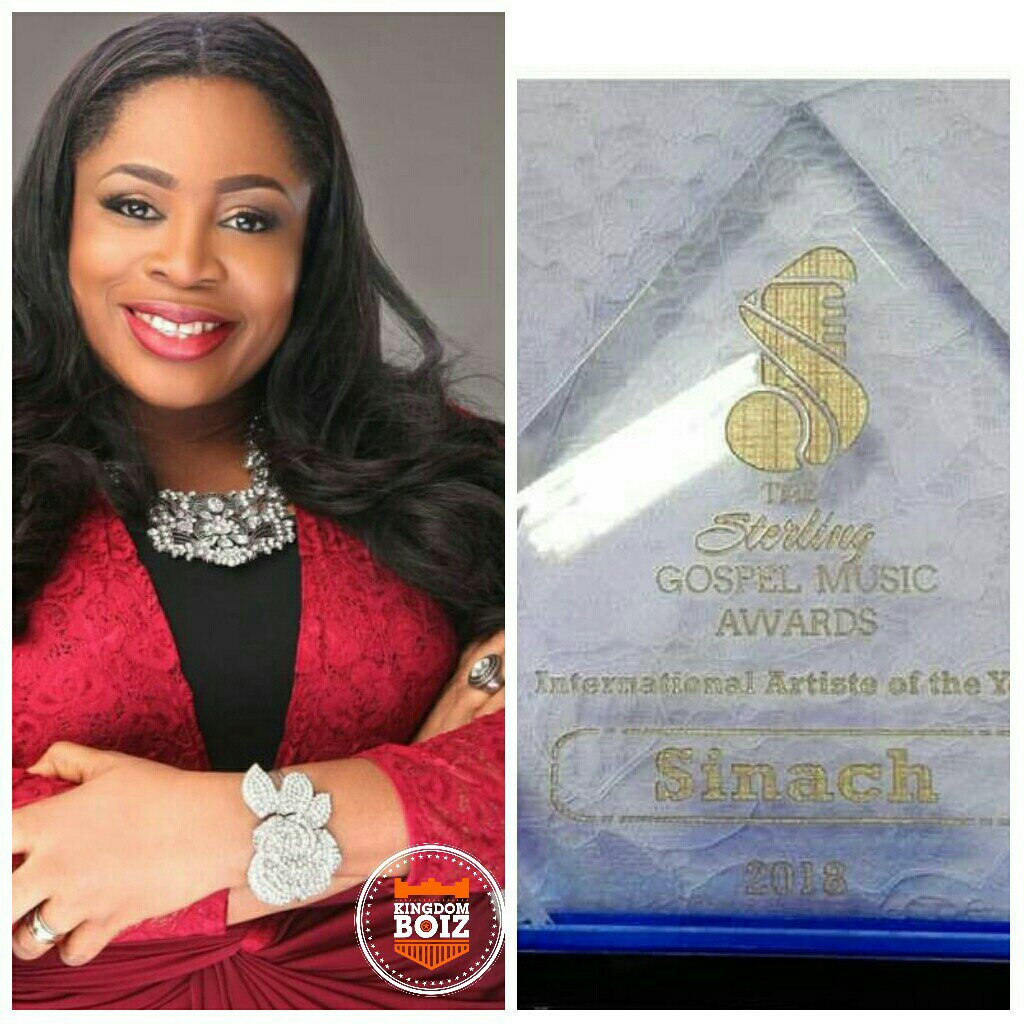 """Congratulations: Sinach Wins Sterling Wards, """"International Artist Of The Year"""""""