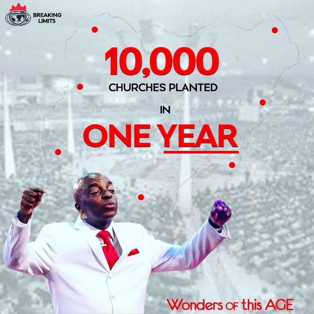 Winners' Chapel Planted 10,000 New Churches In One Year