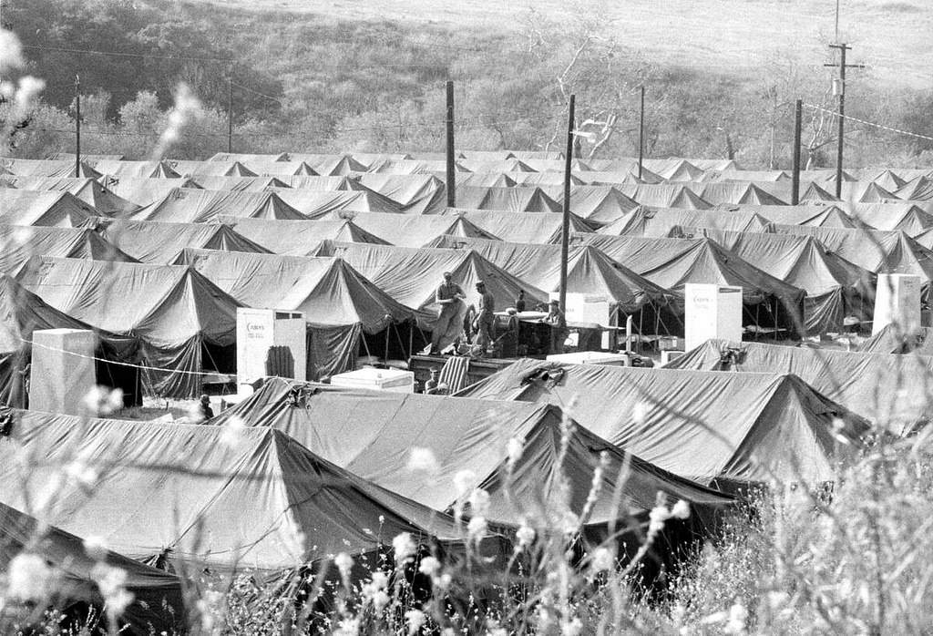 refugee camp photo