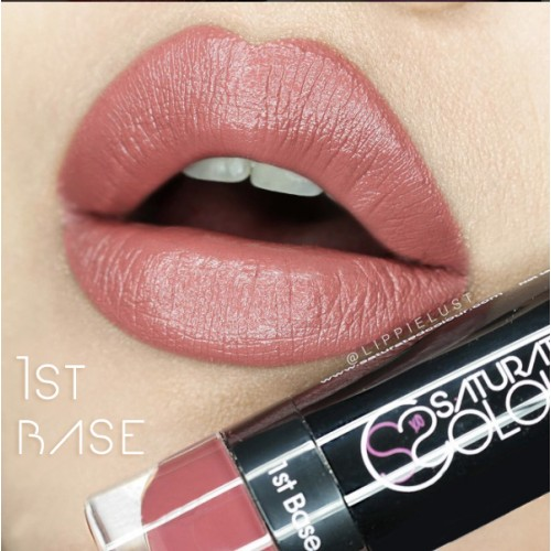 Saturated colour lipstick 1st base