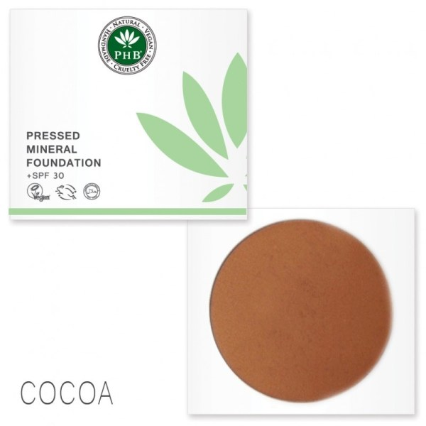 PHB Ethical Beauty pressed mineral foundation cocoa