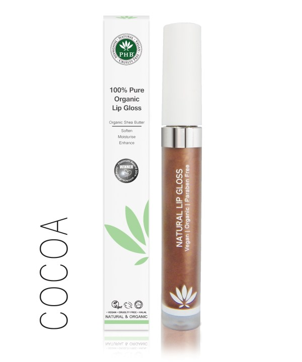 PHB Ethical Beauty lipgloss cocoa