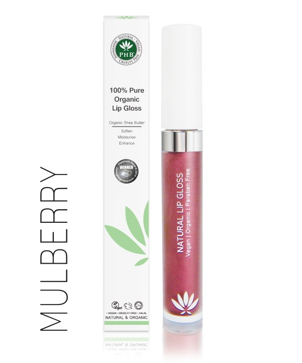 PHB Ethical Beauty lipgloss mulberry