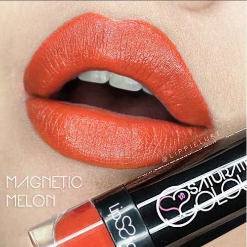 Saturated colour lipstick magnetic melon