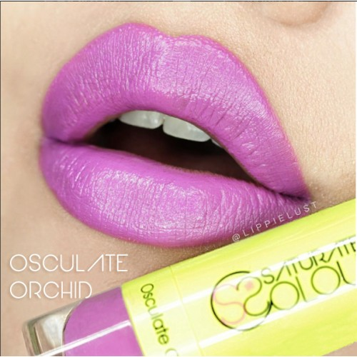 Saturated colour lipstick osculate orchid
