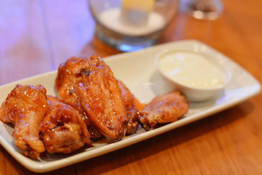 Habanero-Brown Sugar Chicken Wings: Shutters at Old Port Royale