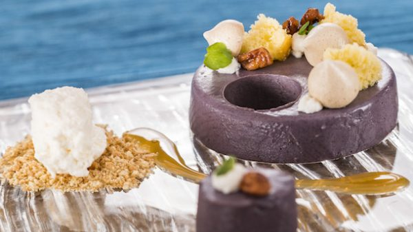 Decadent Delights: Deconstructed Purple Sweet Potato