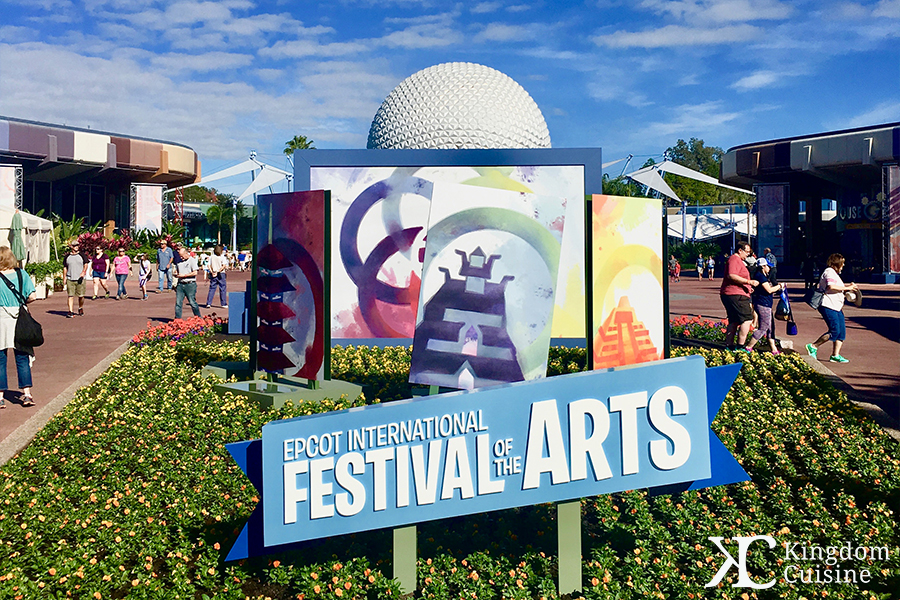 2018 Epcot International Festival of the Arts Menus