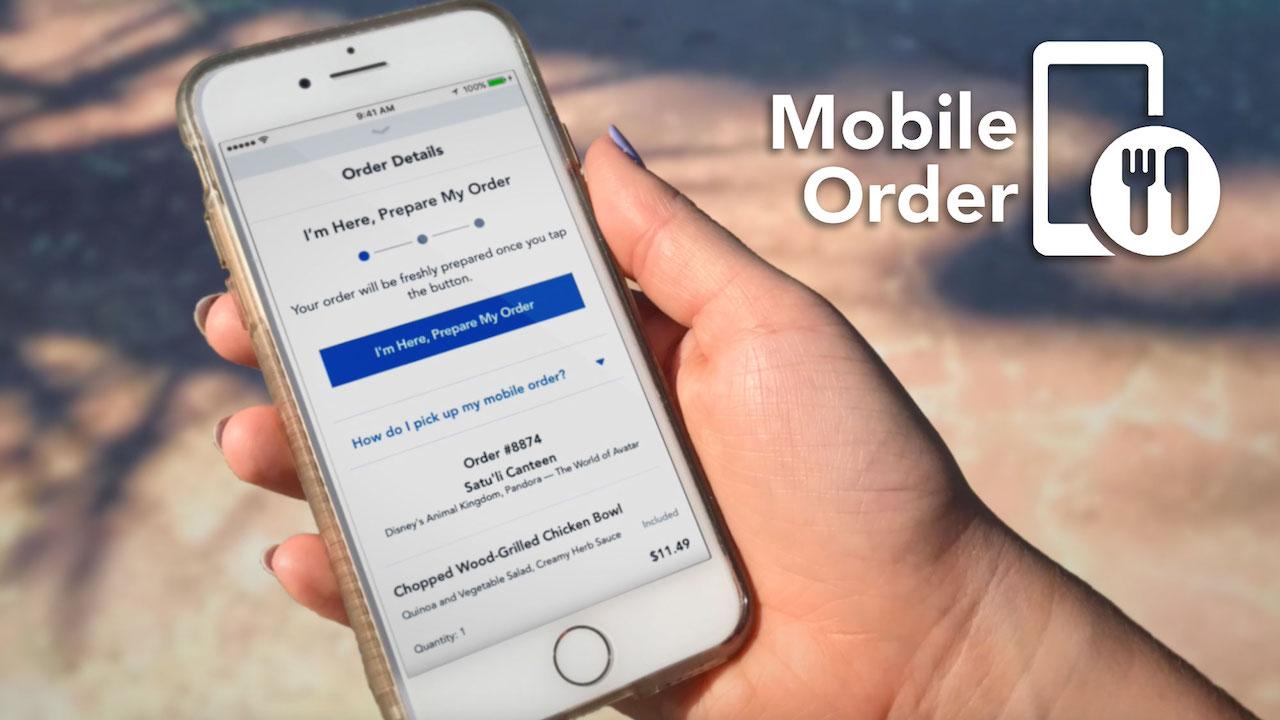 Mobile Order Screen