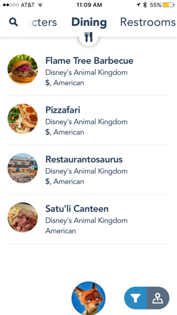 Current Mobile Order Locations