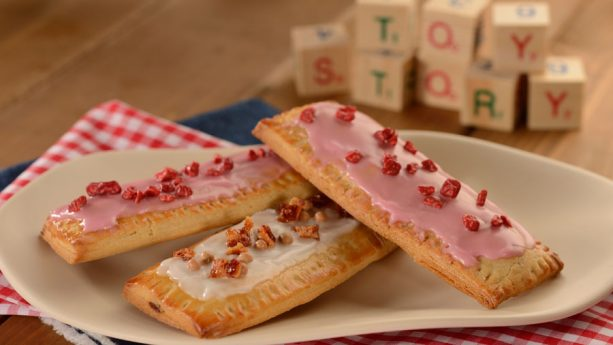 Raspberry Lunch Box Tart with Icing and Dried Fruit and Hazelnut Lonch Box Tart with Icing and Caramelized Bacon