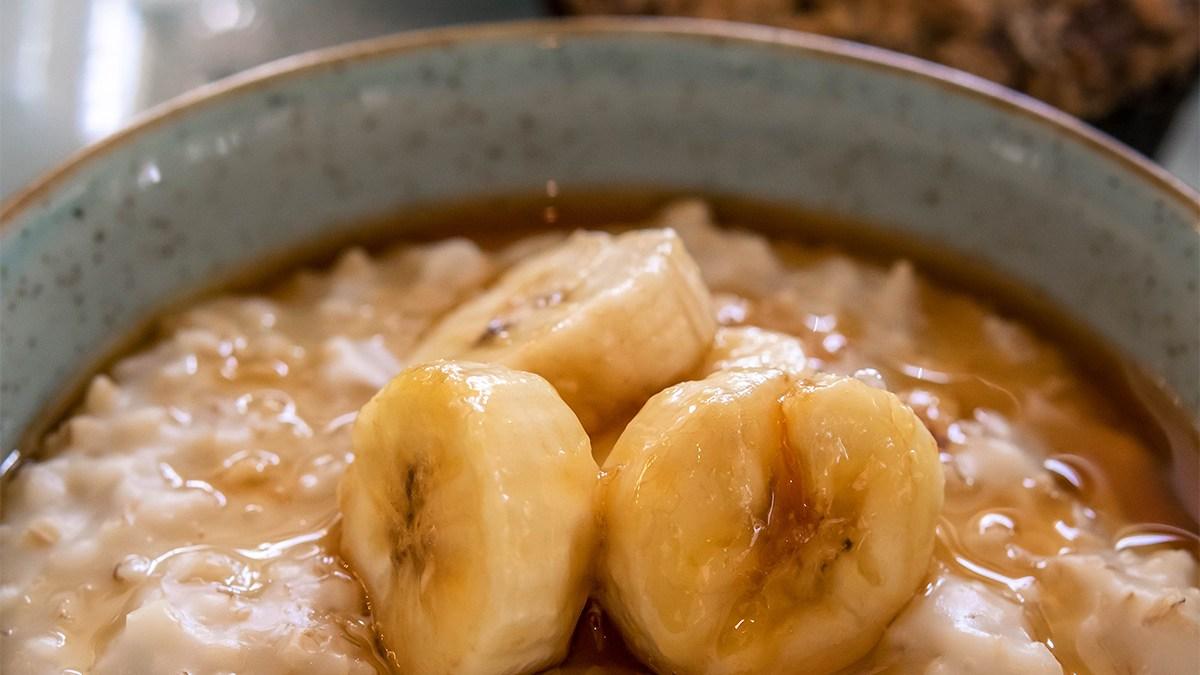 Banana Foster-style Steel-cut Oatmeal