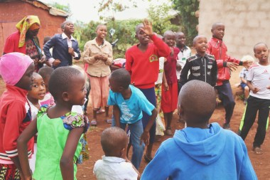 Singing songs during children's ministry