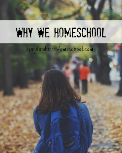 This is why we homeschool. It may not be the reason you are thinking.