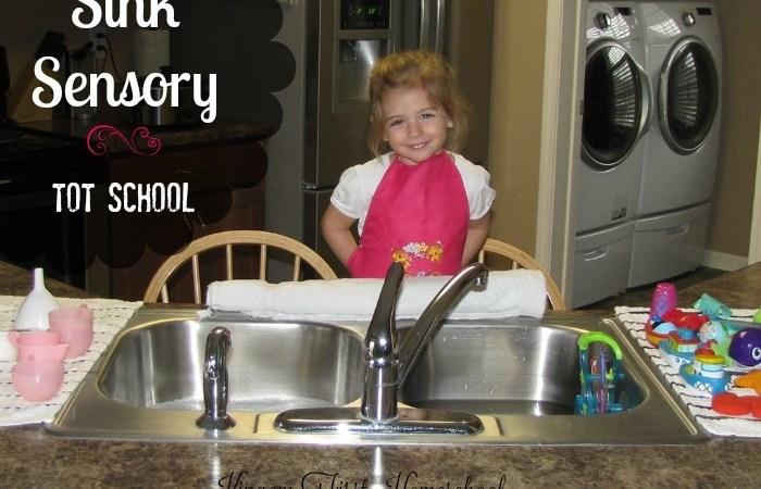 Tot School | Sink Sensory | 33 Months