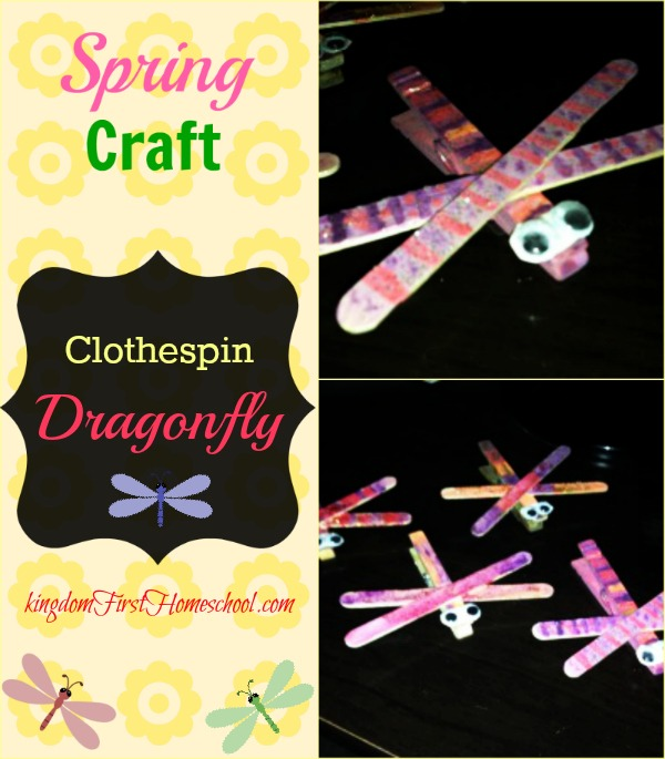 Clothespin Dragonfly Craft | Kingdom First Homeschool