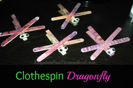 Clothespin Dragonfly- Easy Spring Craft | Kingdom First Homeschool