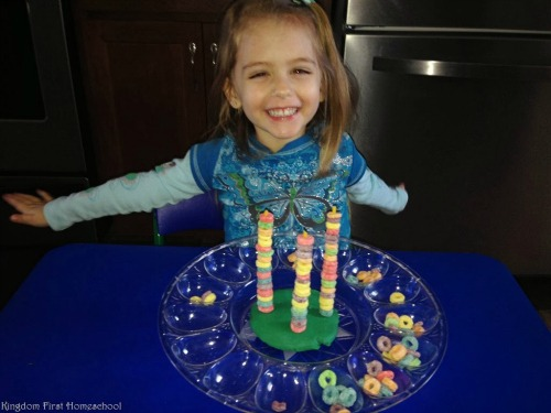 Froot loops playdoh stack