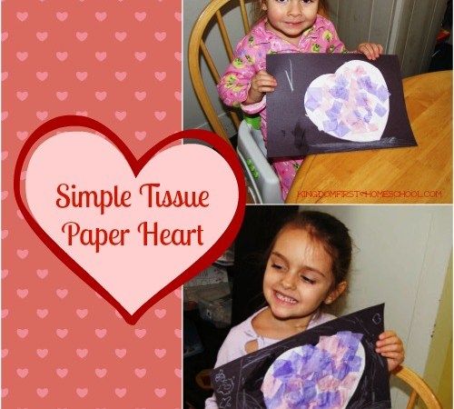 Simple Tissue Paper Heart Craft