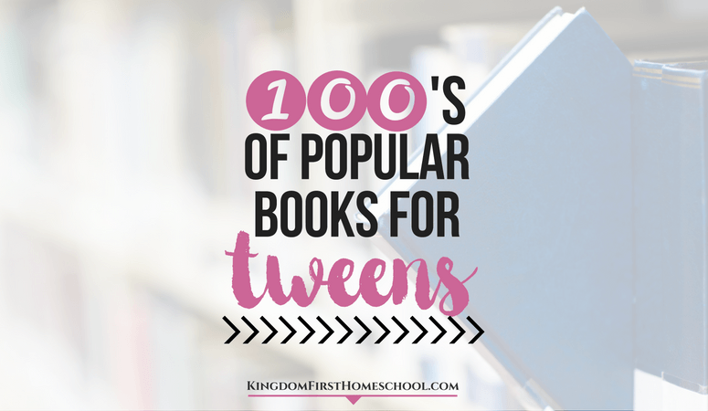 100's of Popular Books for Tweens (8-12)