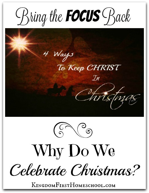 It's easy to get caught in the Christmas Crazies! Here are 4 fantastic ways to keep Christ in Christmas so your kids truly understand what the real meaning is.