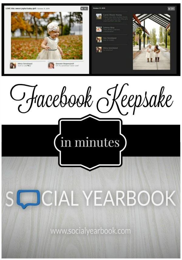Social Yearbook is a new and fun way to create a Facebook photo book from your timeline: complete with all of your Photos, Likes, and Comments. Its' easy to get started - just go to http://socialyearbook.com/ and follow the steps. Social Yearbook will do the rest.