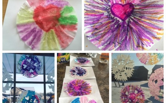 2 Ways to Make Colorful Coffee Filter Snowflakes