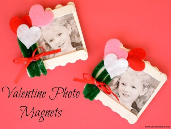 Valentine's Photo Magnets