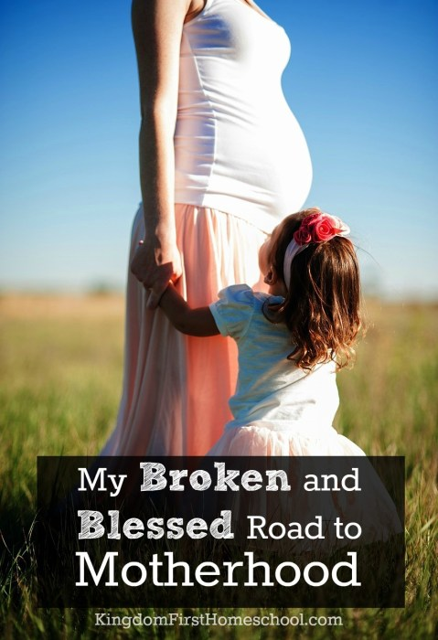 This is my story of loss and love, and God's healing power throughout. My Broken and Blessed Road to Motherhood