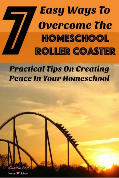 Do you ever tire of the ups & downs of your homeschool day, week, month, or more? Discover 7 easy ways to overcome the homeschool roller coaster. Amy of Busy Boys Brigade shares her practical tips on creating peace in your homeschool.
