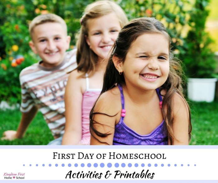 First Day of Homeschool Activities & Printables
