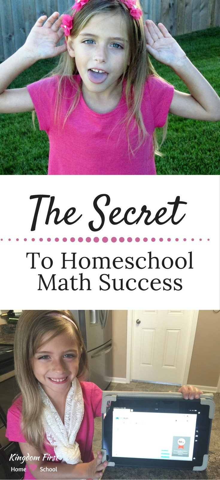 Finally! The Secret to homeschool math success!