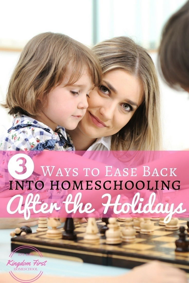 Homeschooling after the holidays can prove challenging. Here are 3 ways to gently ease back into homeschooling.