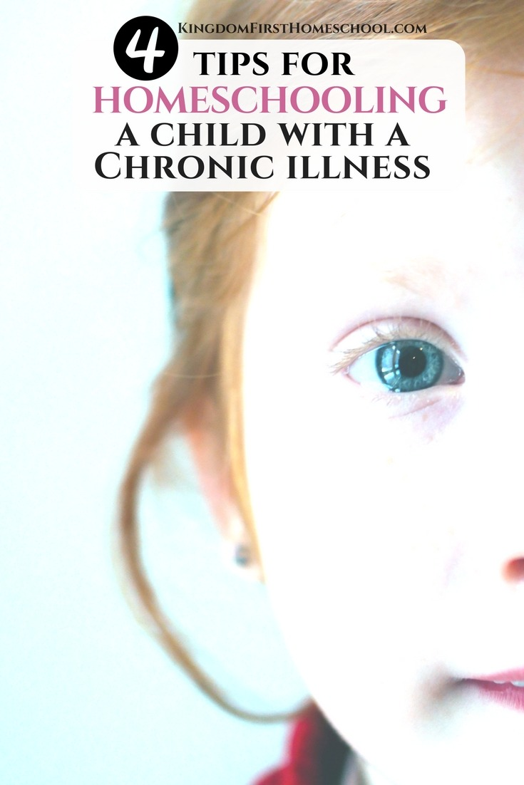 Are you homeschooling a child with chronic illness. Here are 4 tips to help.