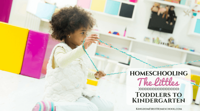 Homeschooling Little Ones – Toddlers to Kindergarten