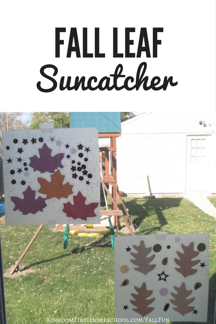 Are you in need of some cute fall decor for your home? This Fall Leaf Suncatcher is going to brighten up your window!