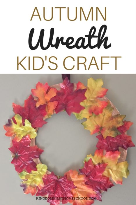 Autumn Wreath Kid's Craft