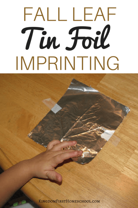 Fall Leaf Tin foil Imprinting