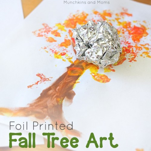foil painted tree art
