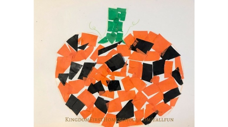 With the fall season speeding by I have a couple more fall projects to complete with my girls and our next project is a mosaic tissue paper pumpkin craft, not one but two fun ways to make this project.