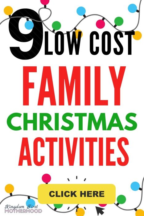 Low-Cost Holiday Activities