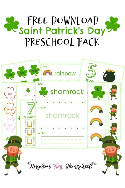 Free Saint Patrick's Day Printables for Preschoolers