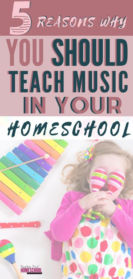 We know music is an amazing way to relax and rejuvenate. Are you aware of the many other benefits teaching music in homeschool? For one... #musiclessons #homeschoolmusic
