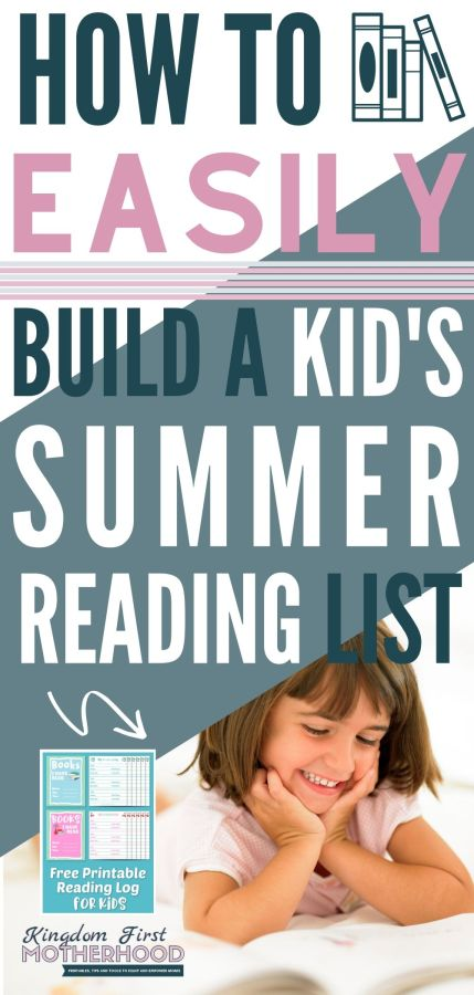 Easily Create a Summer Reading List for Kids from these wholesome books to choose from for tweens to read! Also download your free Kids Printable Reading Log!